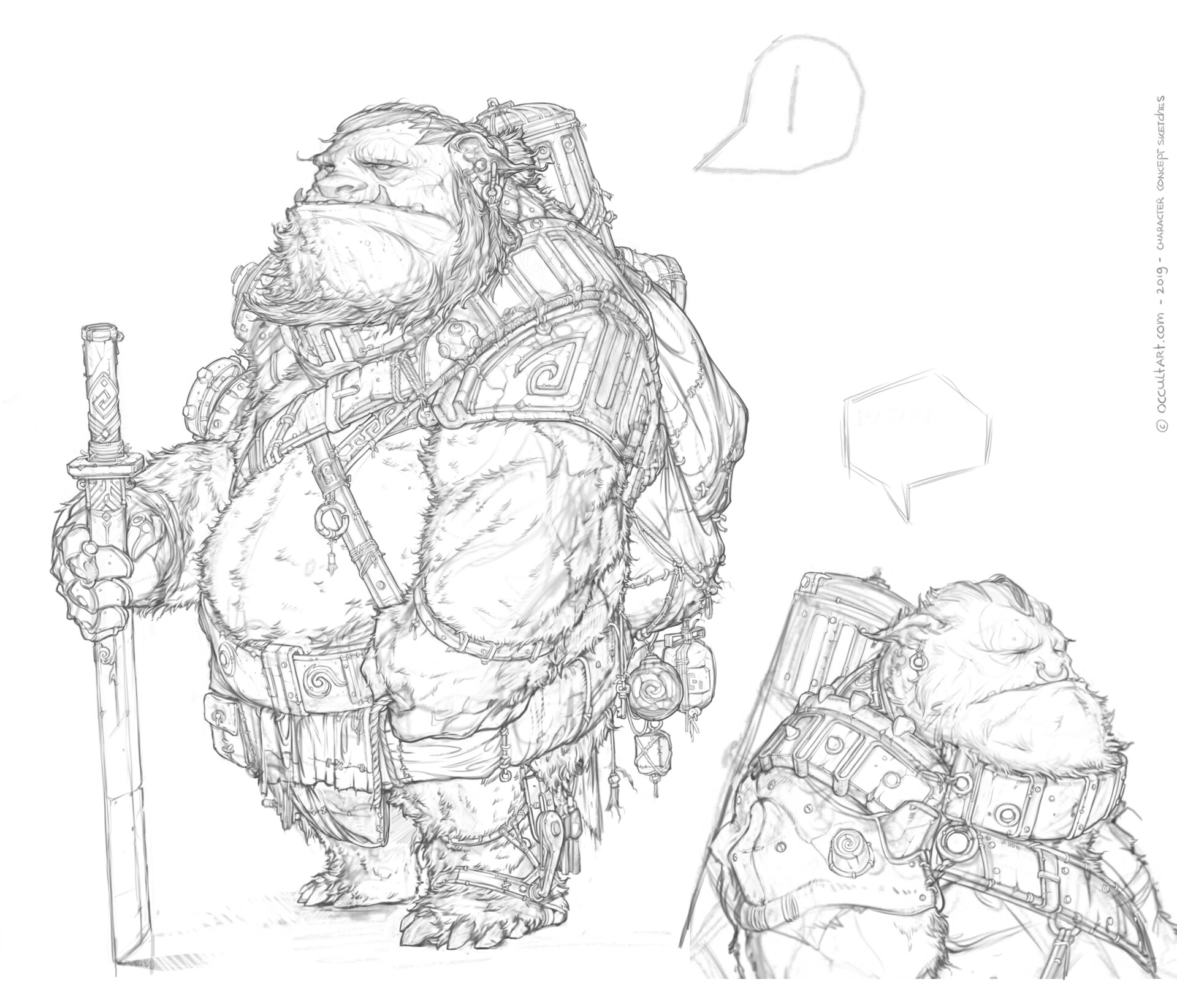 Occultart   occultart concept bear sketch a01 012 002