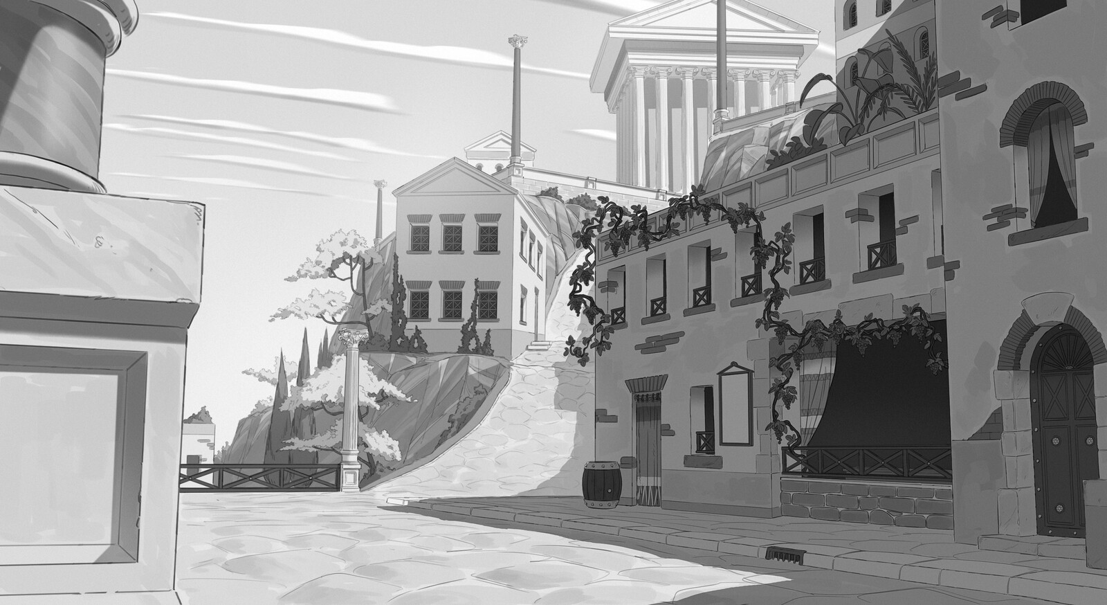 Concept of the streets of Constantinopolis, searching for the right feeling.