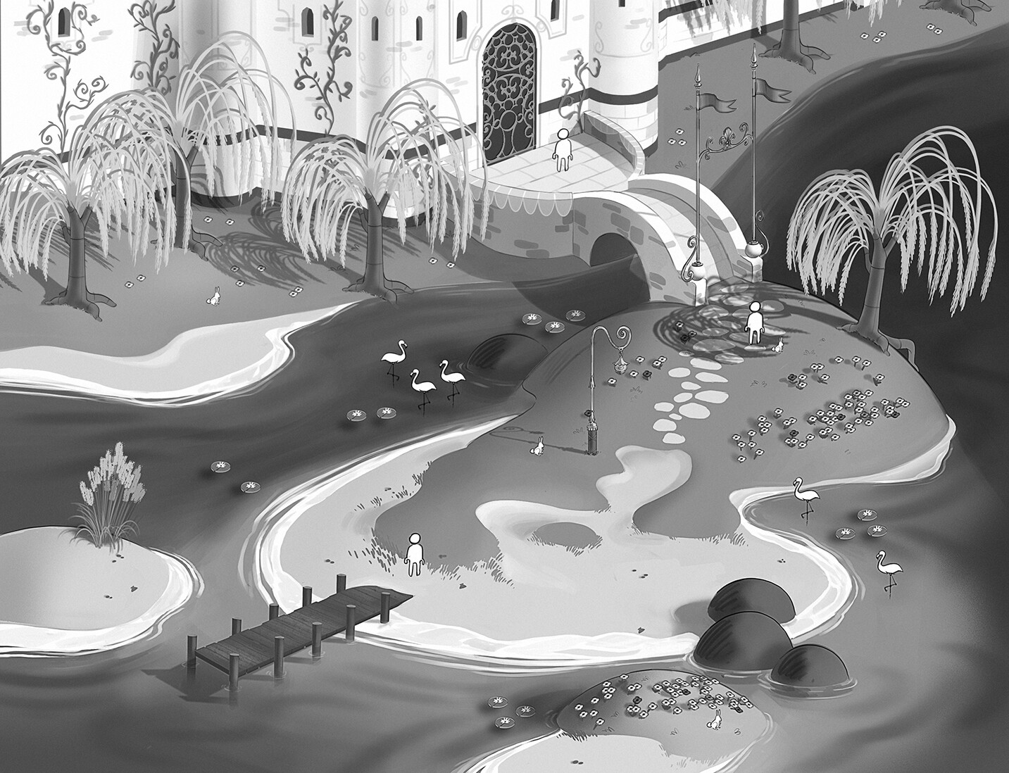 Fairytale concept based on an early stage of the script.
