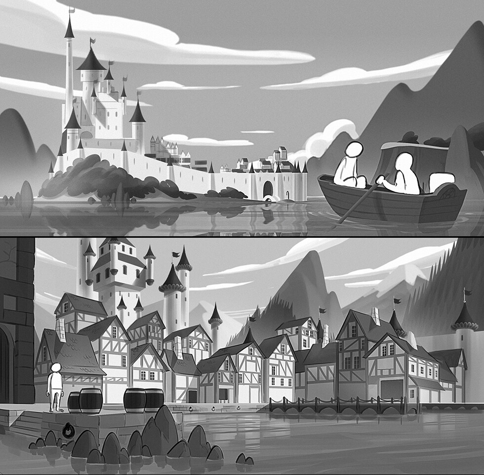 Early concepts for the Fairytale city.
