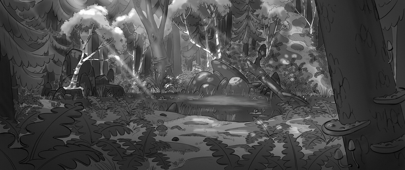 Viking forest concept.