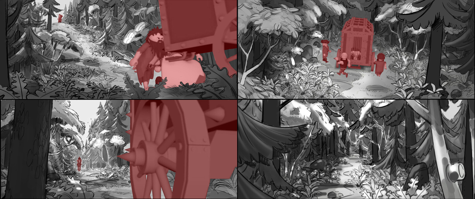Layout based rough forest concepts.