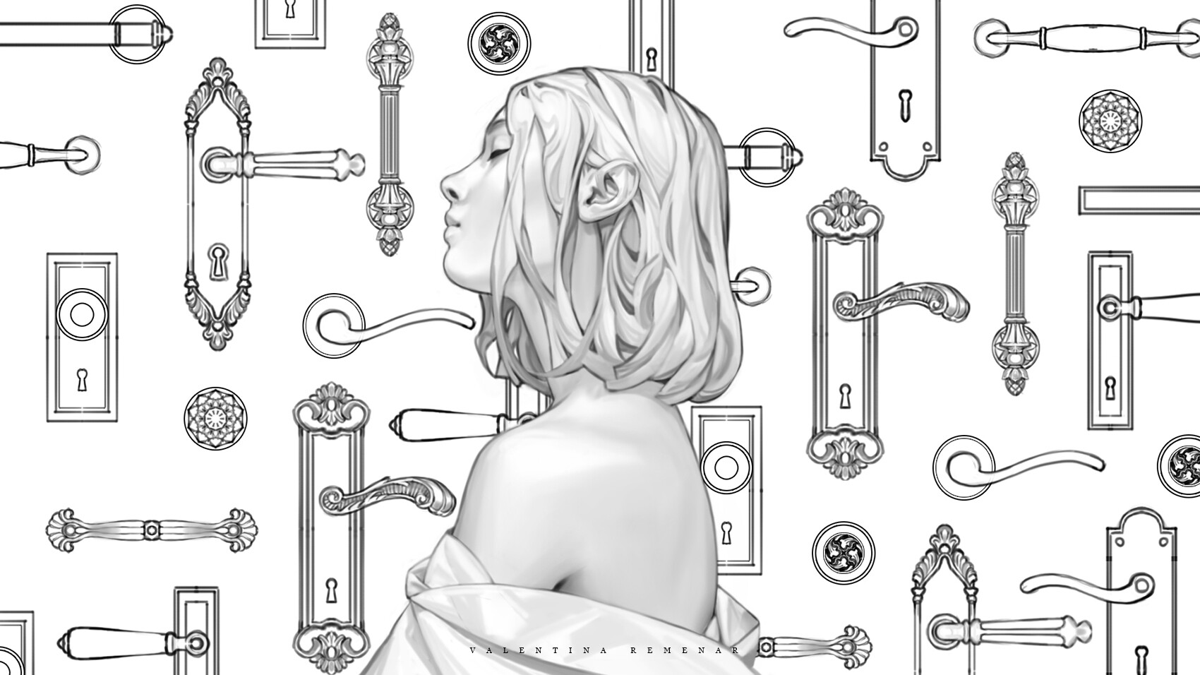 Valentina remenar key to opportunity by valentina remenar lineart