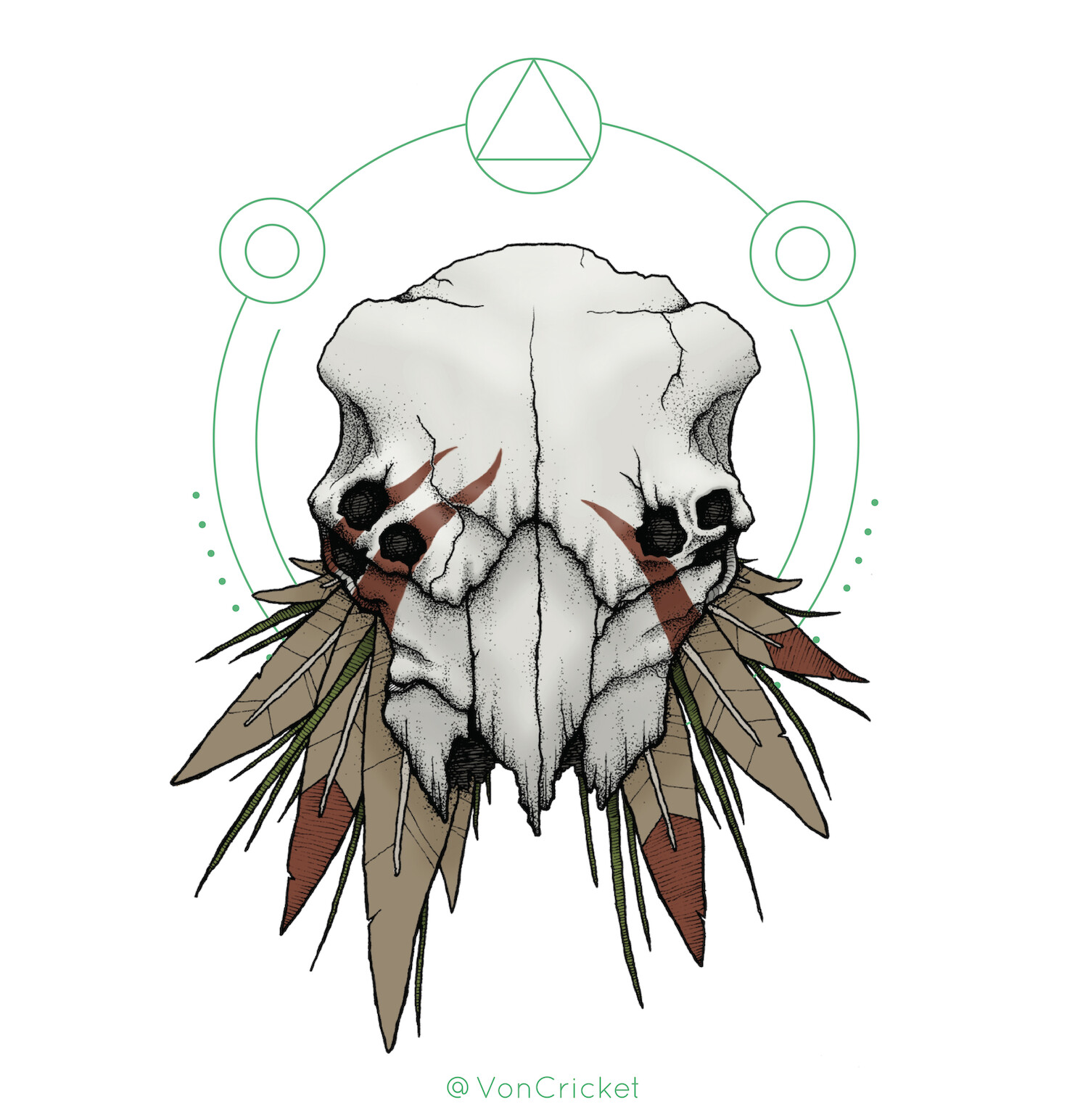 Michael ford skull feather voncricket