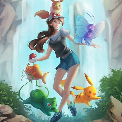 Pokemon Let's Go! Fanart Illustration