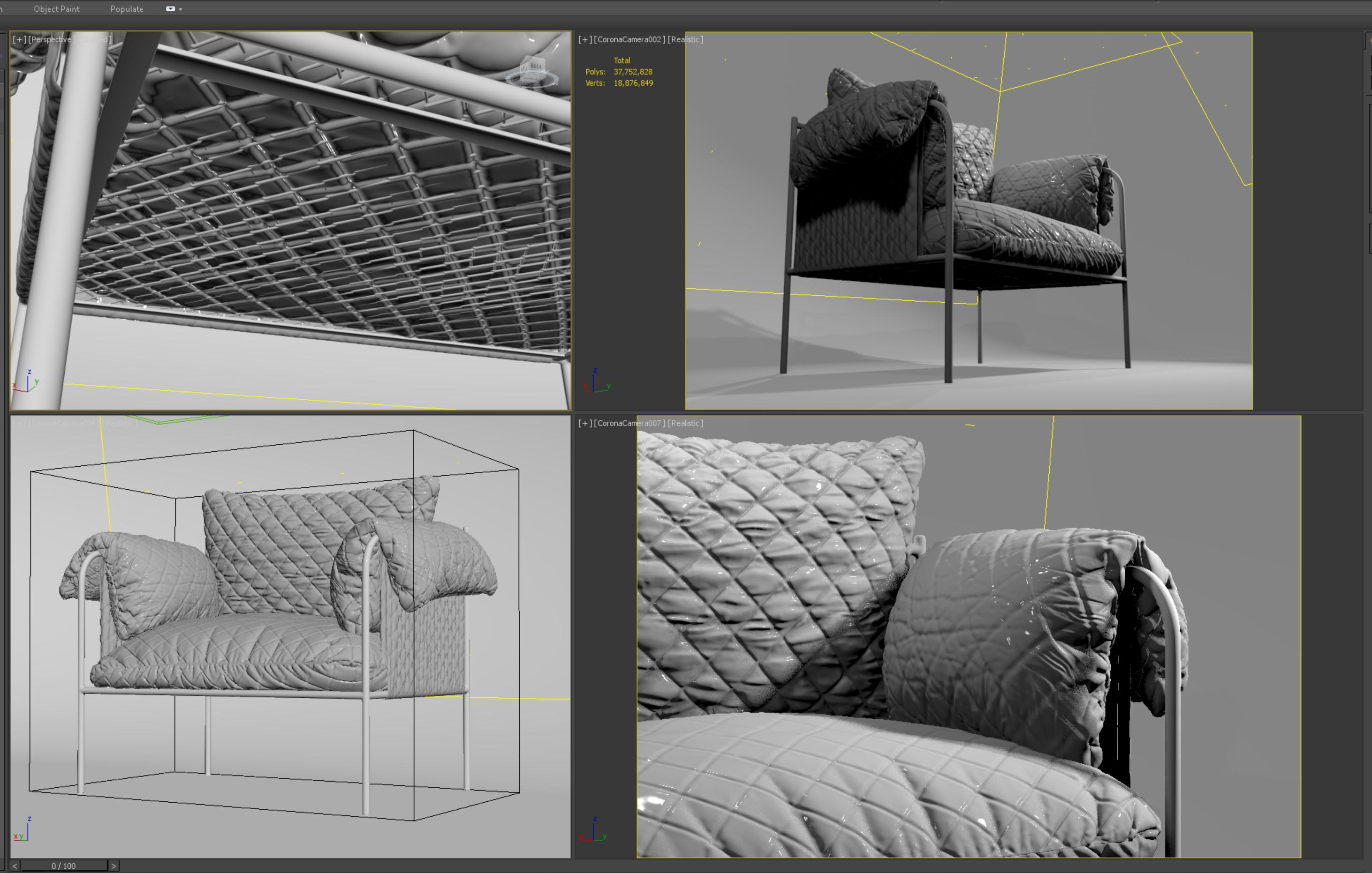 Velvet Sofa Details