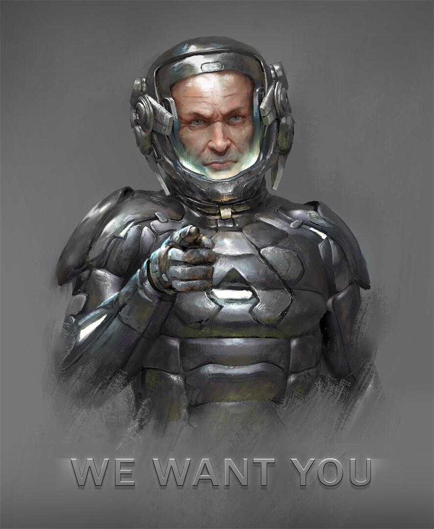 Uncle Sam space marine