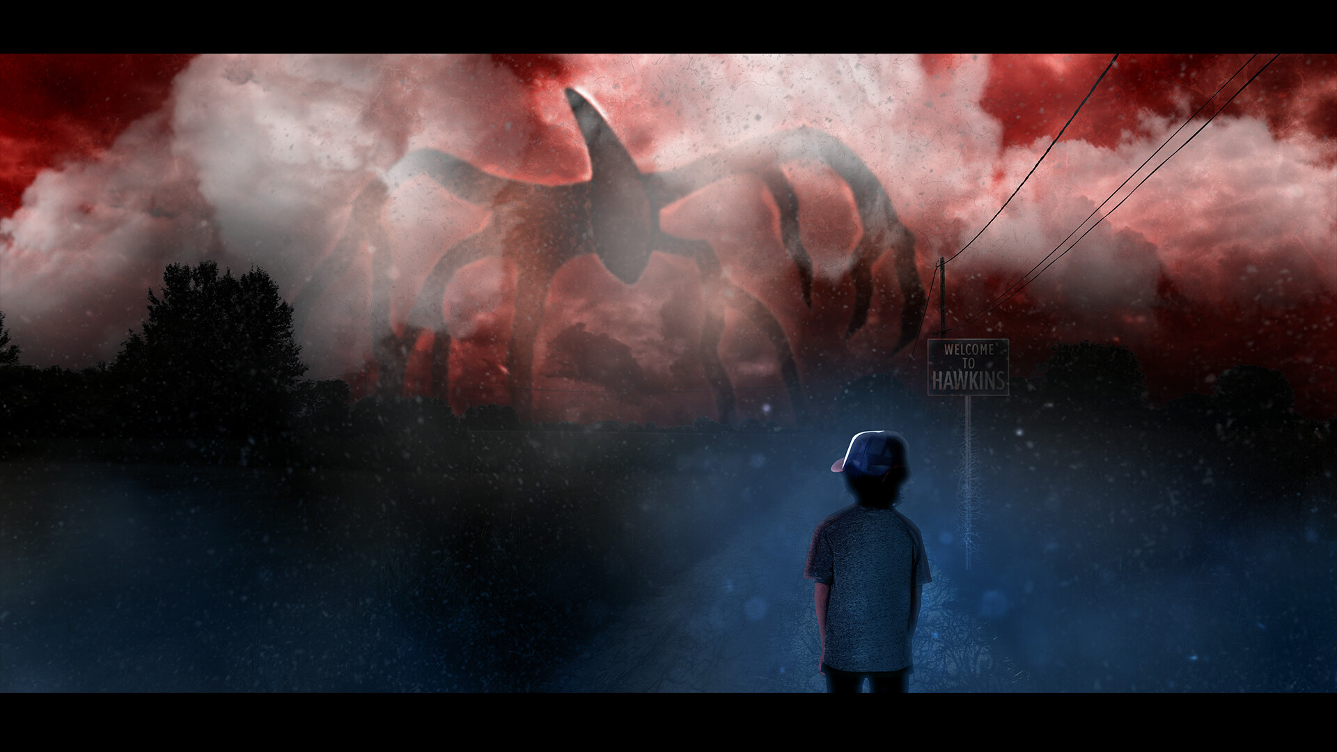 Artstation The Mind Flayer A Stranger Things Matte Painting