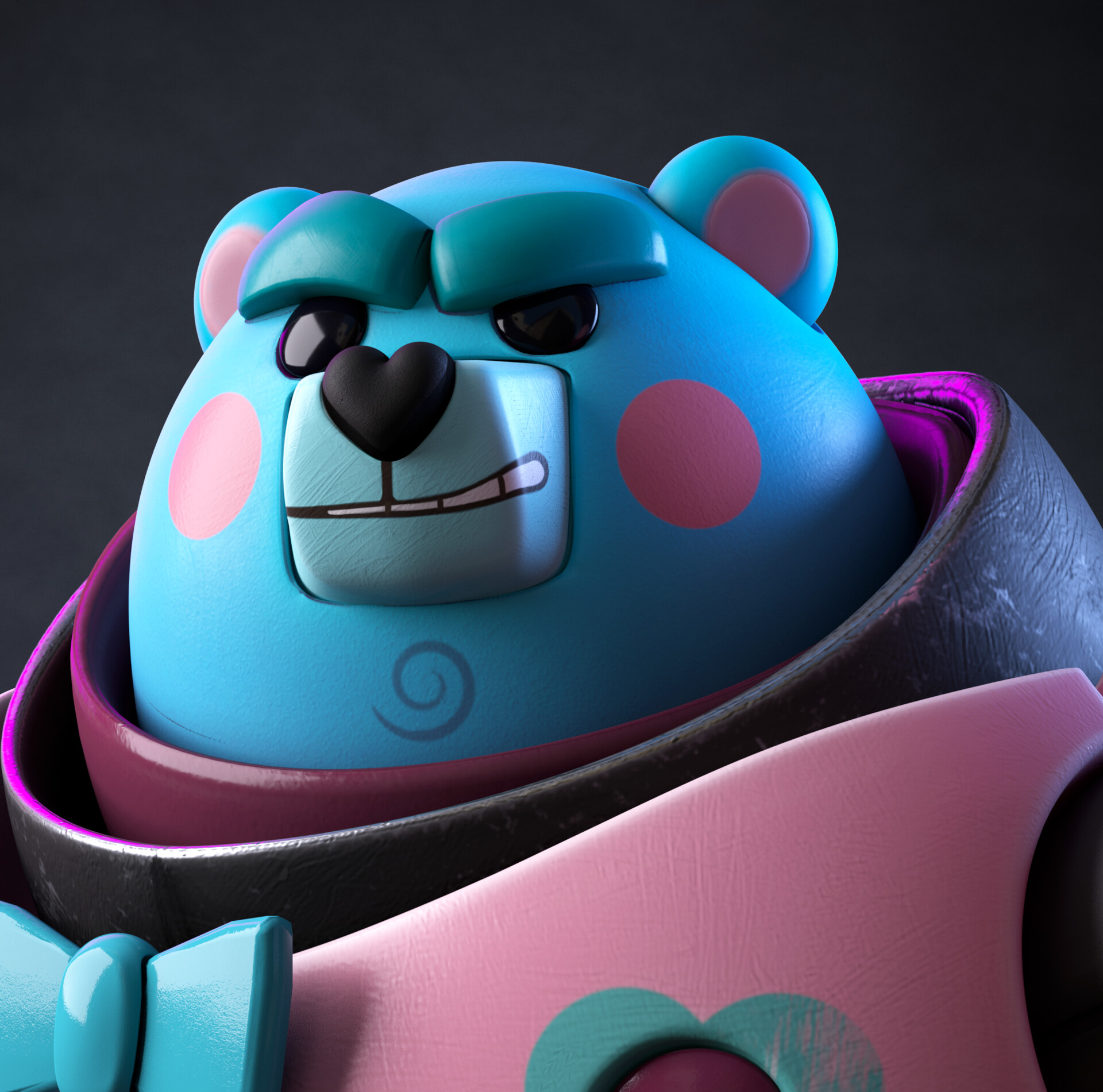 Julio lopez bear close up portada