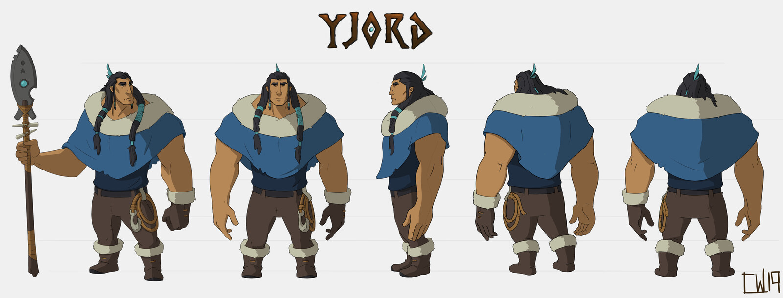 Yjord Character Turn Around