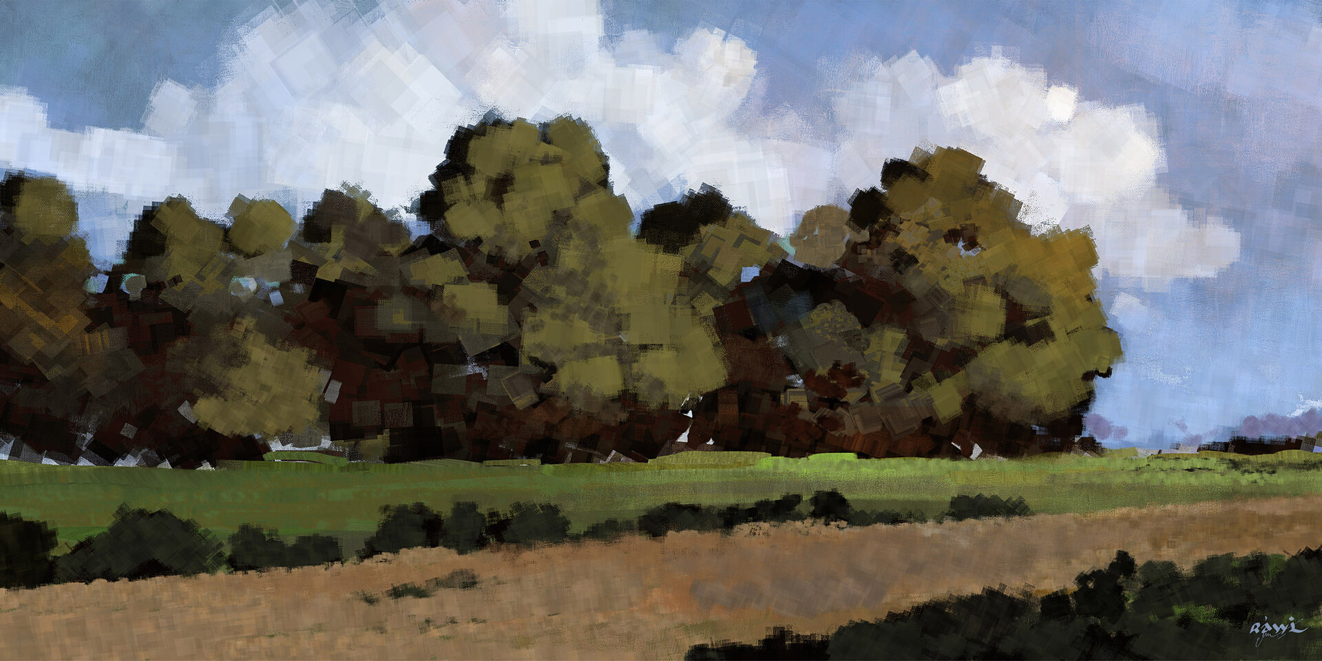 Ahmed rawi landscape sketches
