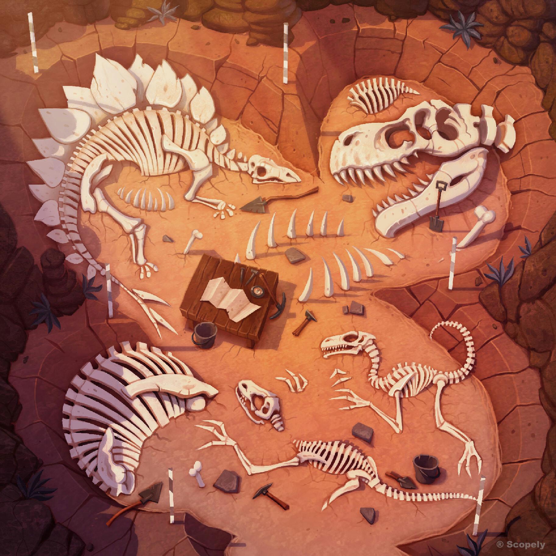 Dinosaur Dig - Maze Background