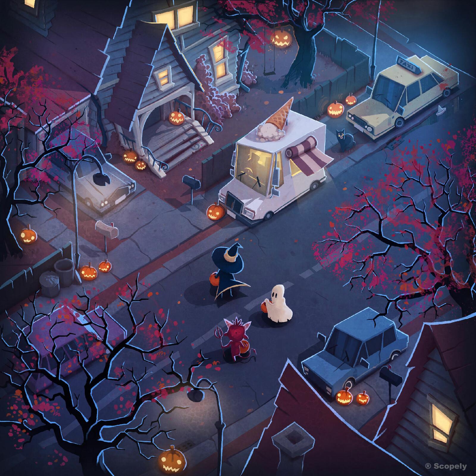 Halloween - Maze Background