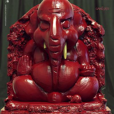 Surajit sen ganeshji digital sculpting surajitsen sept2019
