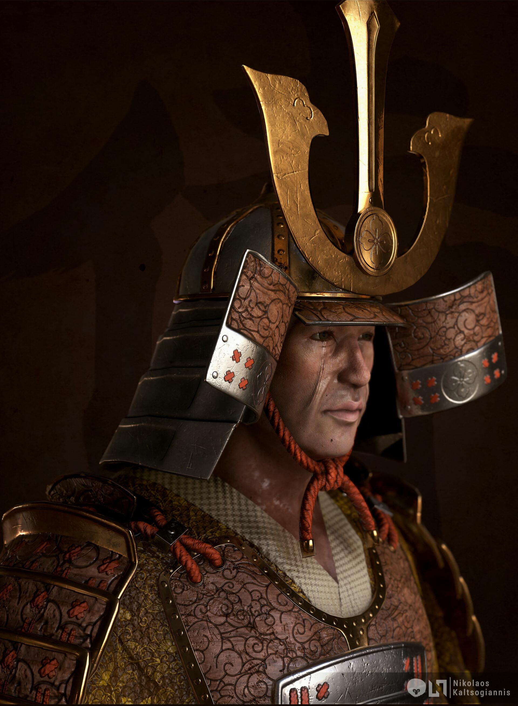 Nikolaos kaltsogiannis samurai bust 03