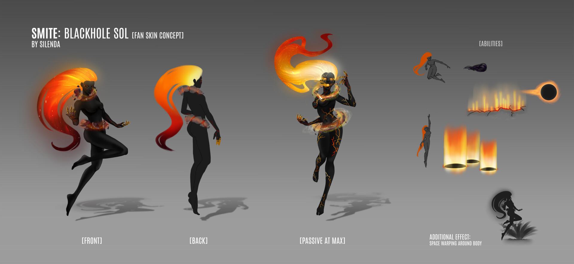 Eszter Zolcsák - Smite: Blackhole Sol (Fan Skin Concept)