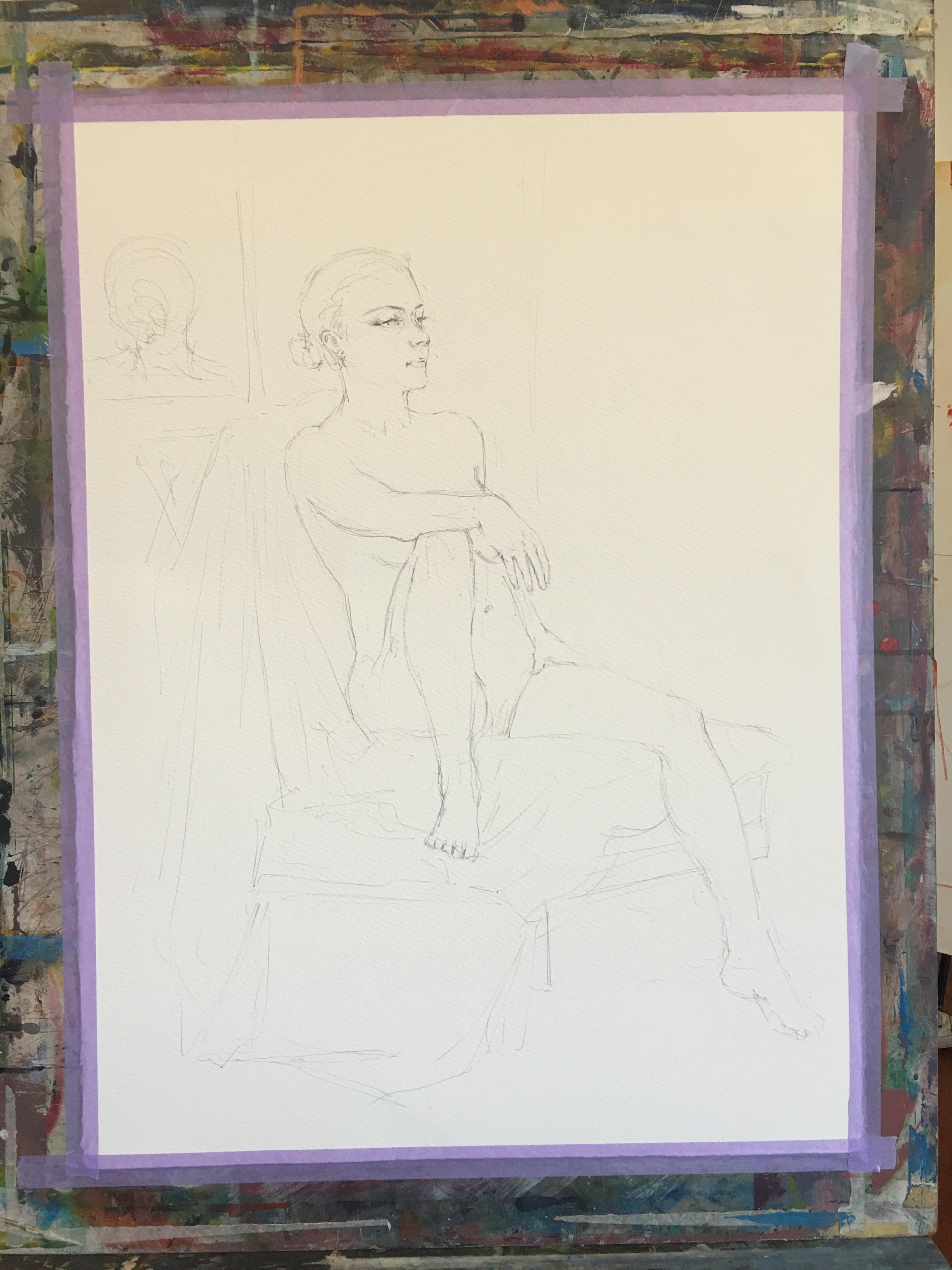 Progress Shot 01 - Penciling