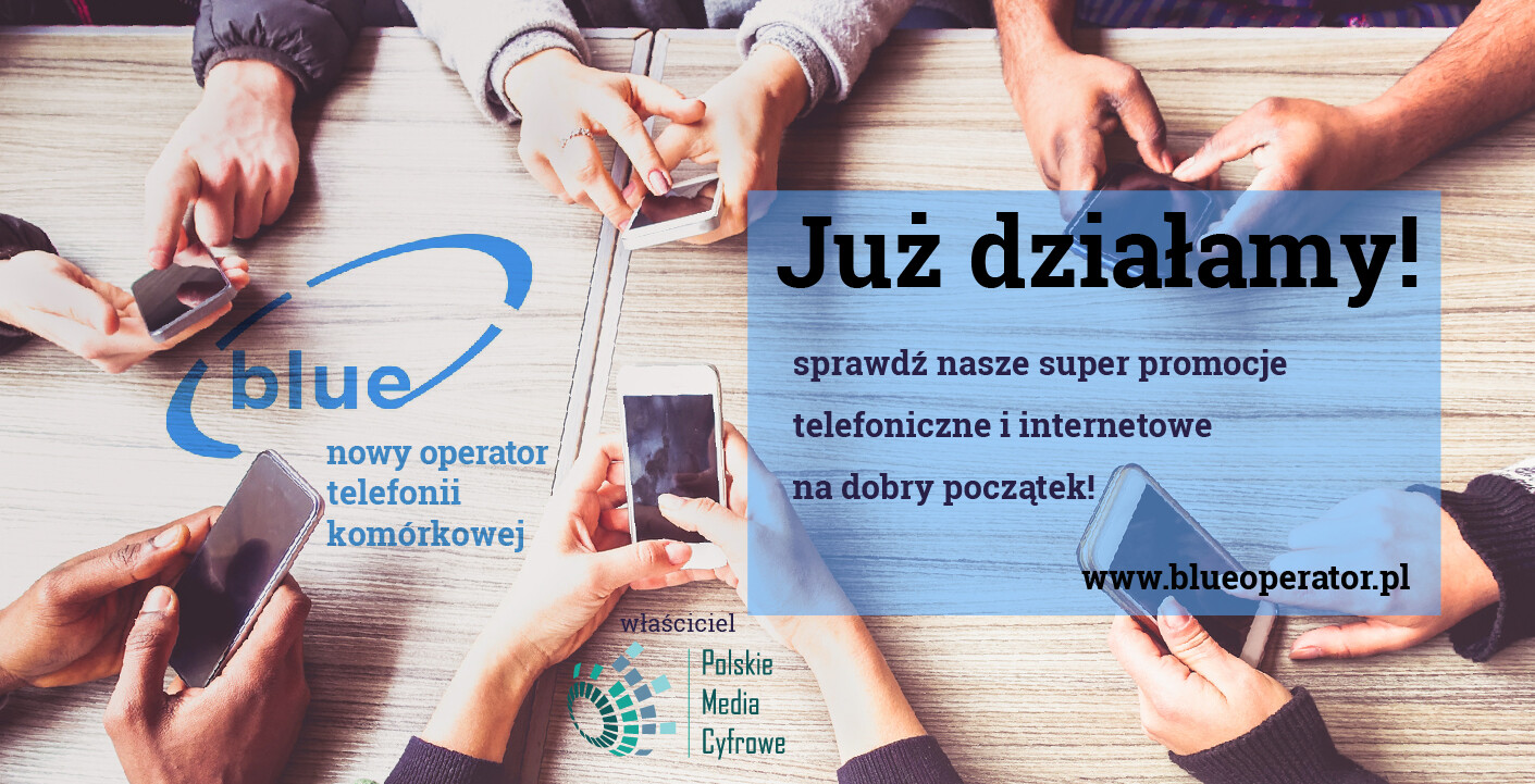Promotional banner for Polskie Media Cyfrowe