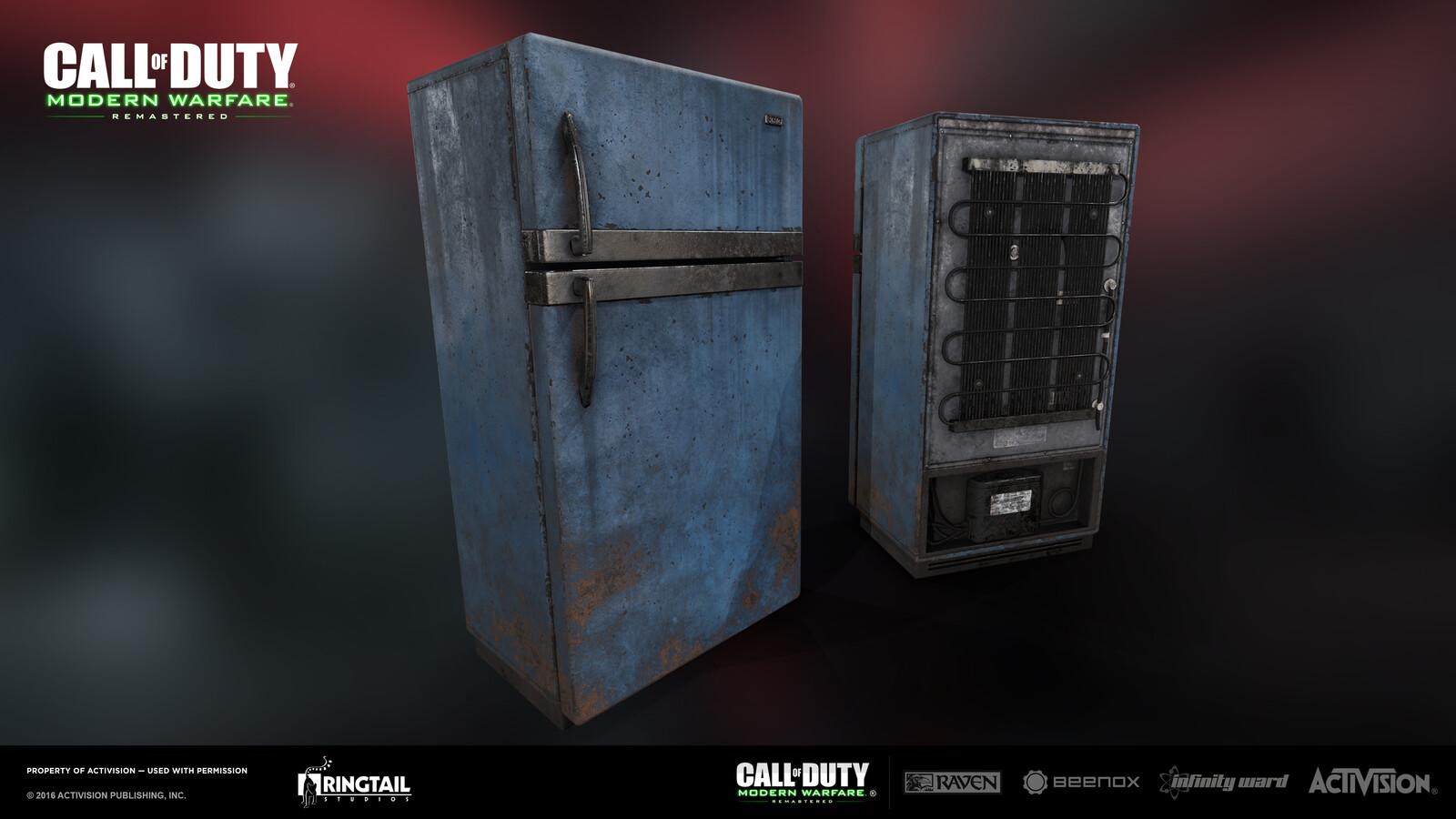 Refrigerator Blue