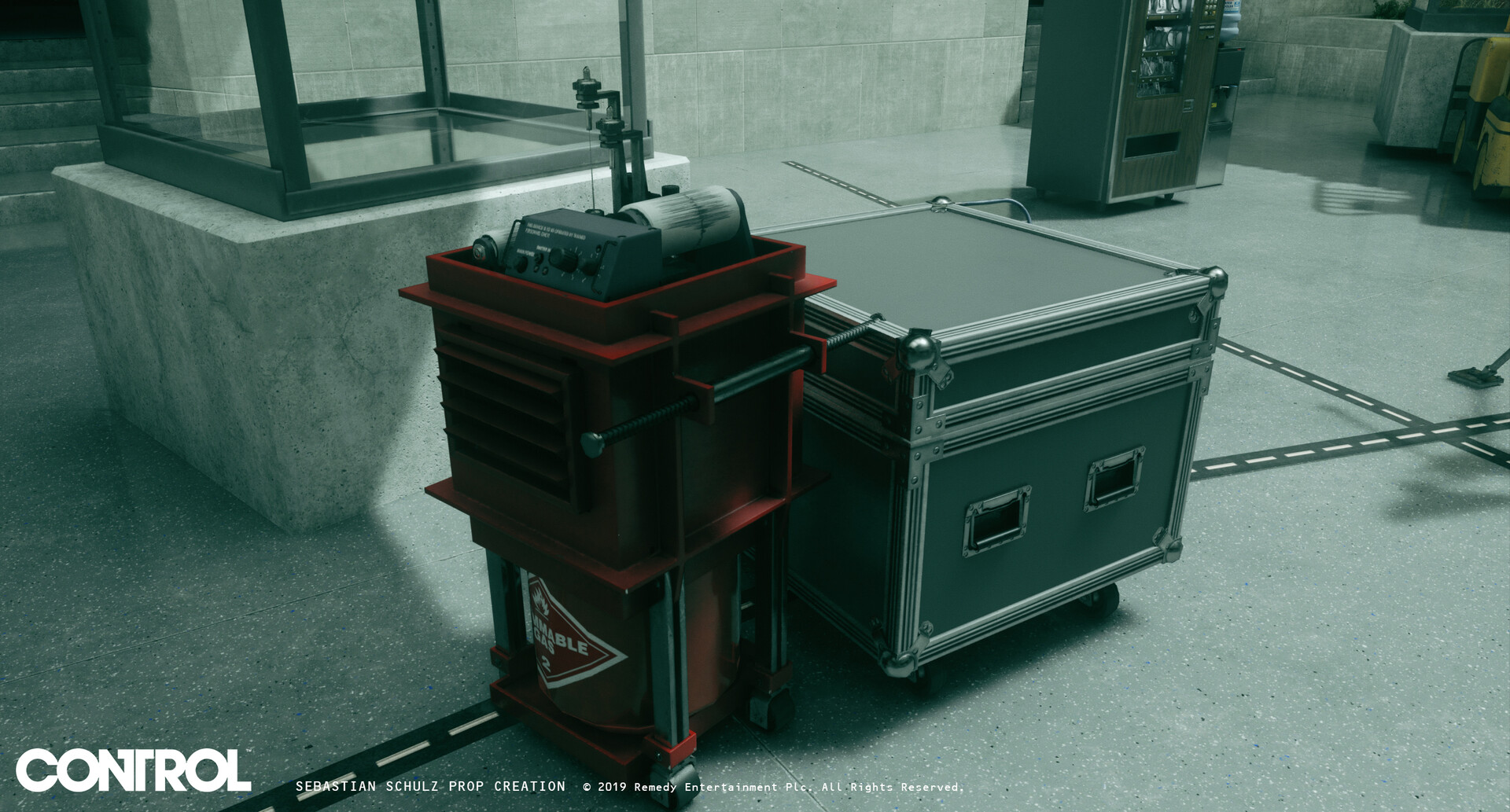 I created the explosive seismograph device as well as the transport crates