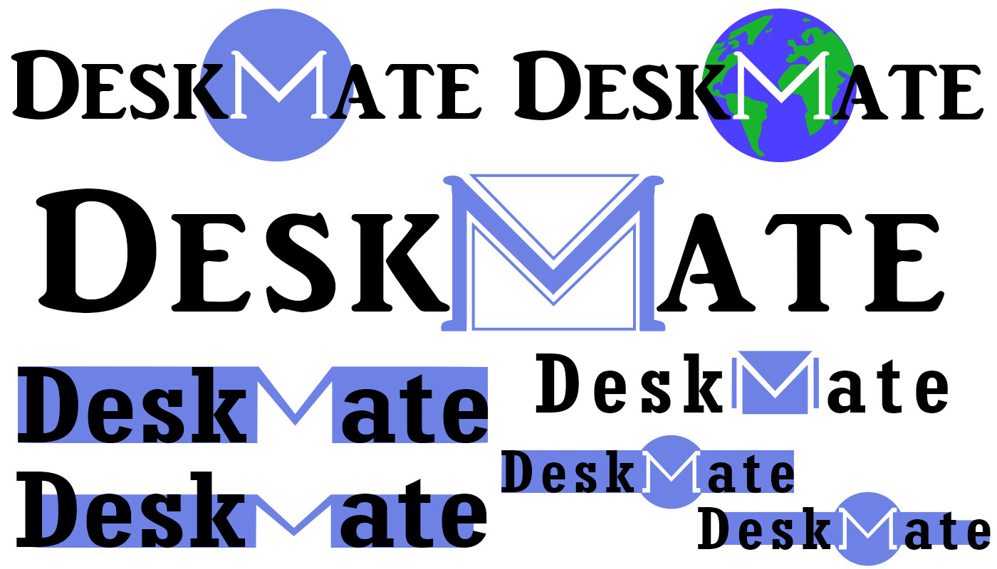 Iterations of both fonts and icons, combined