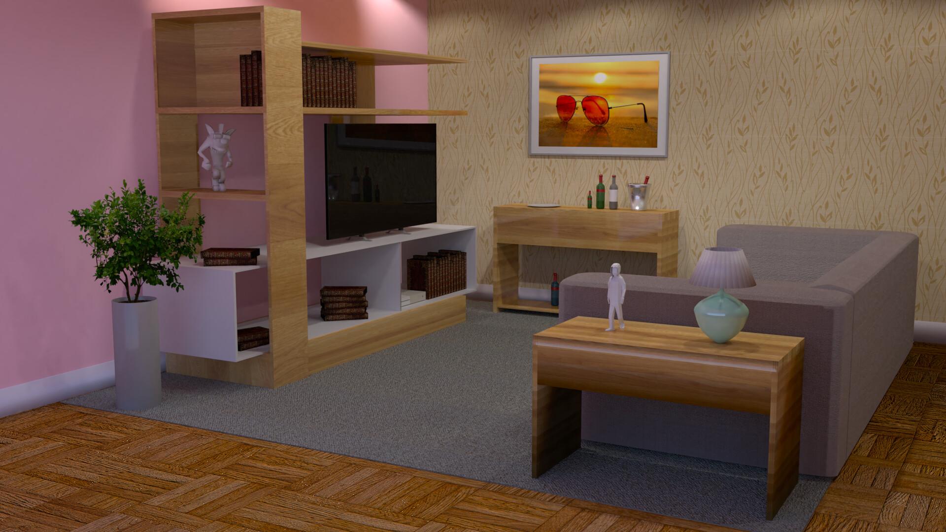 Tiago Melo - Living room and mini bar