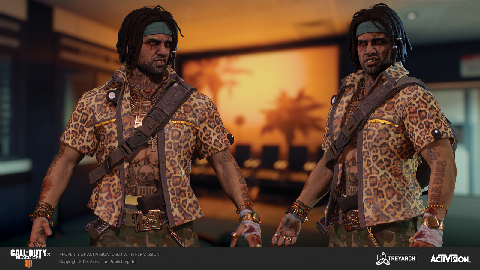 Responsible for texturing Crash's face/body tattoos for the 'Snitch' skin released for the Grand Heist DLC. Concept by John Liew, body modeled by our external partners, in collaboration with the talented artists at Treyarch. Head model by Loudvik Akopyan.