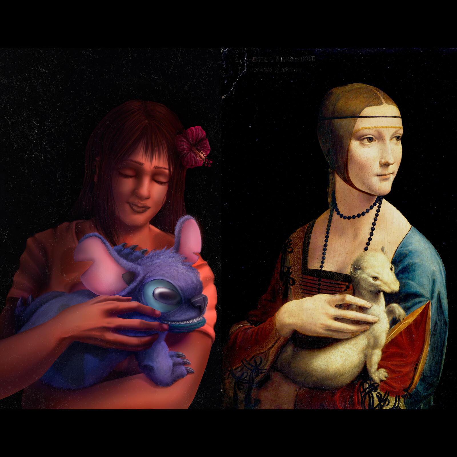 "Part of my series on classic art, this time on Da Vinci's ""Lady with a Ermine"""