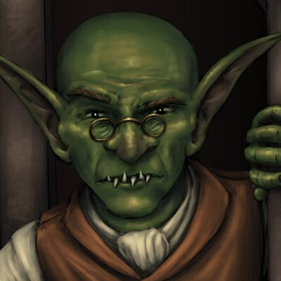 Christian hadfield dnd criticalrole wentsworth accountant goblin by christian hafield