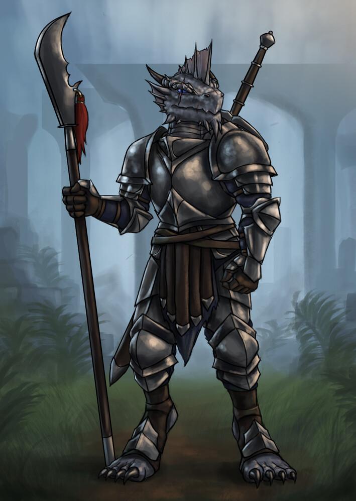 Christian hadfield silver dragonborn fighter update 2