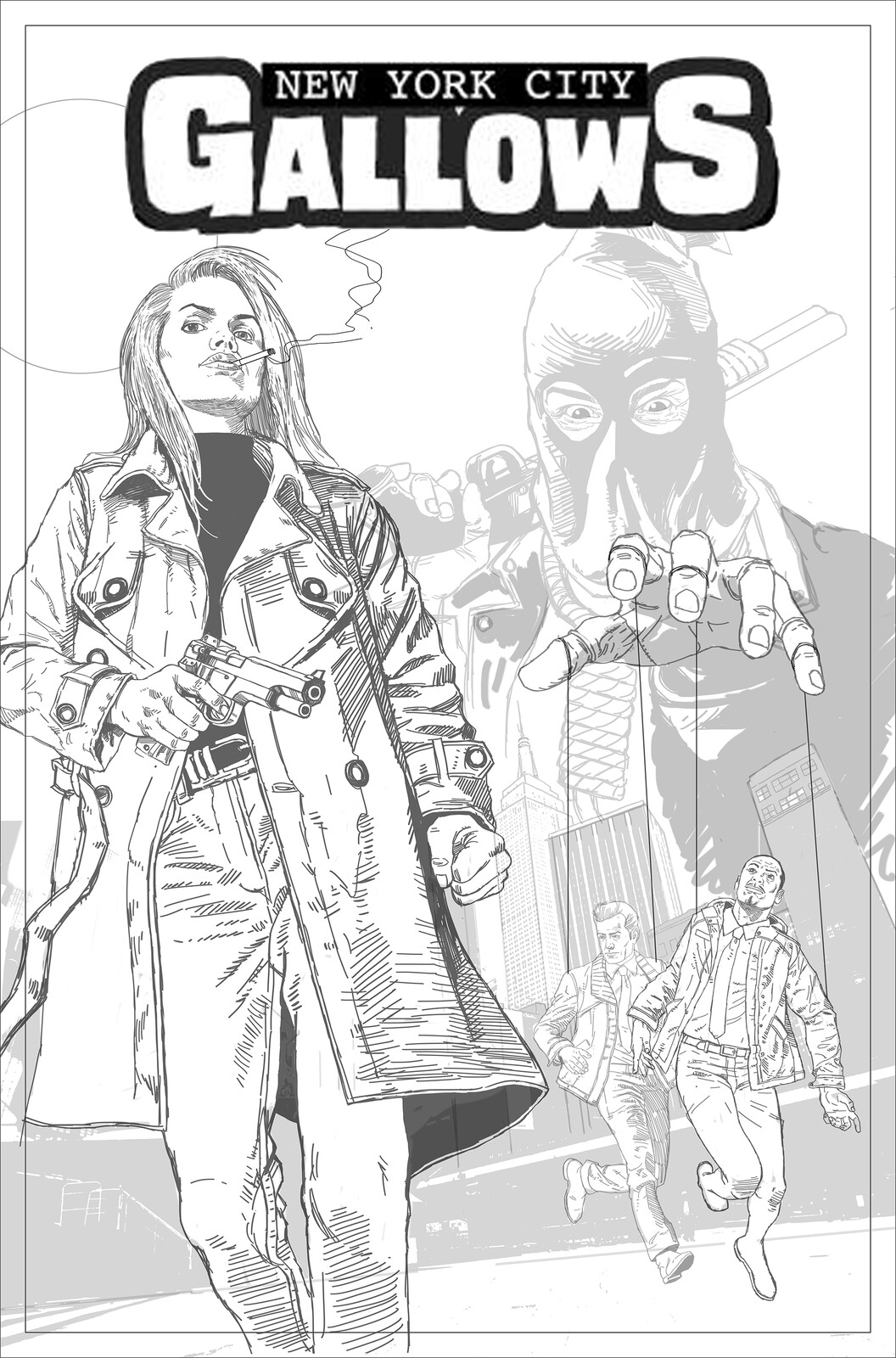 Comic Book Cover Sketch