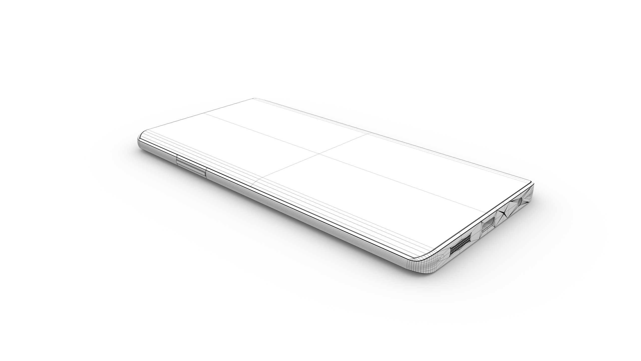 Phone Wireframe (Ambient Occlusion)