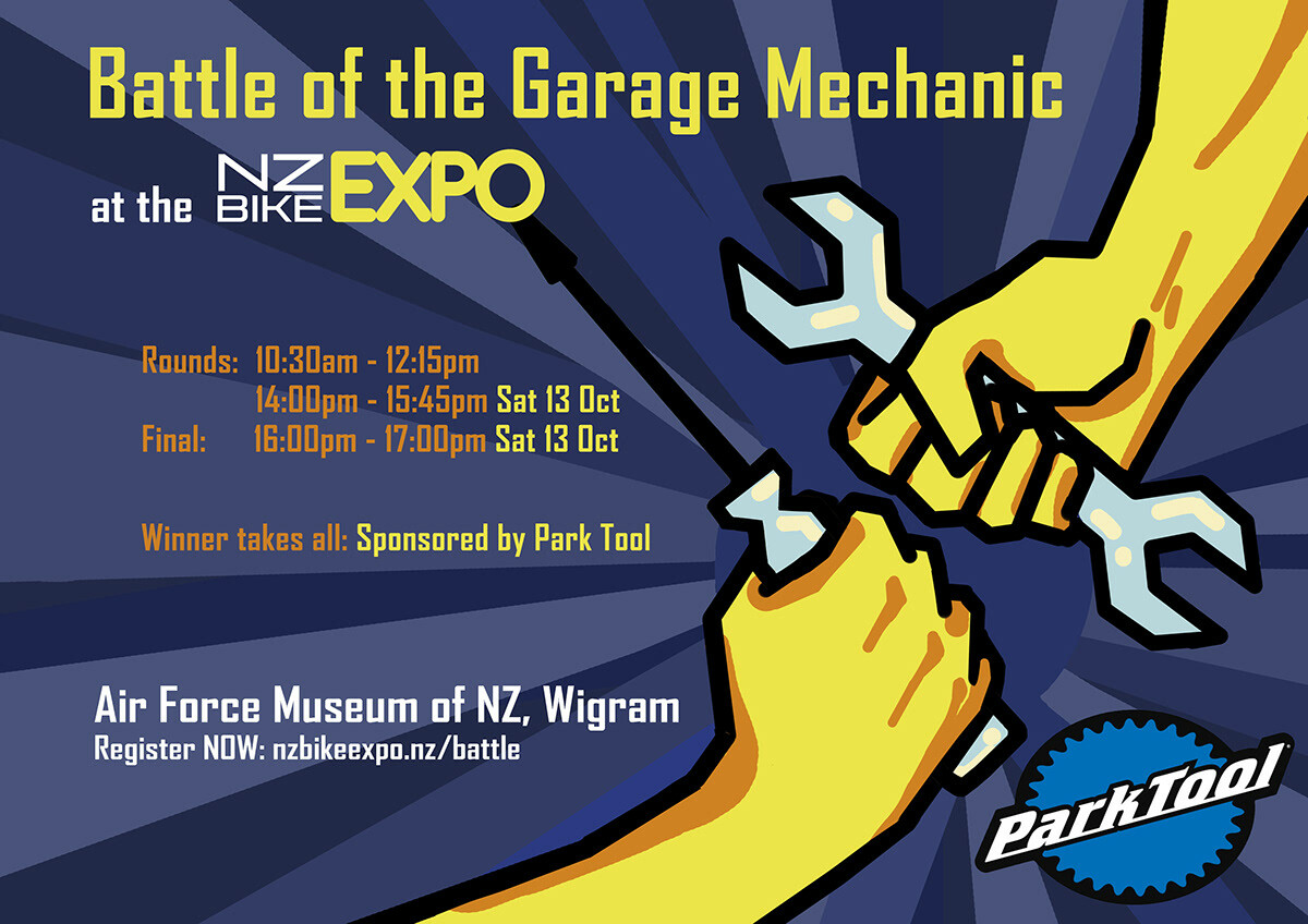 NZ Bike Expo Event poster