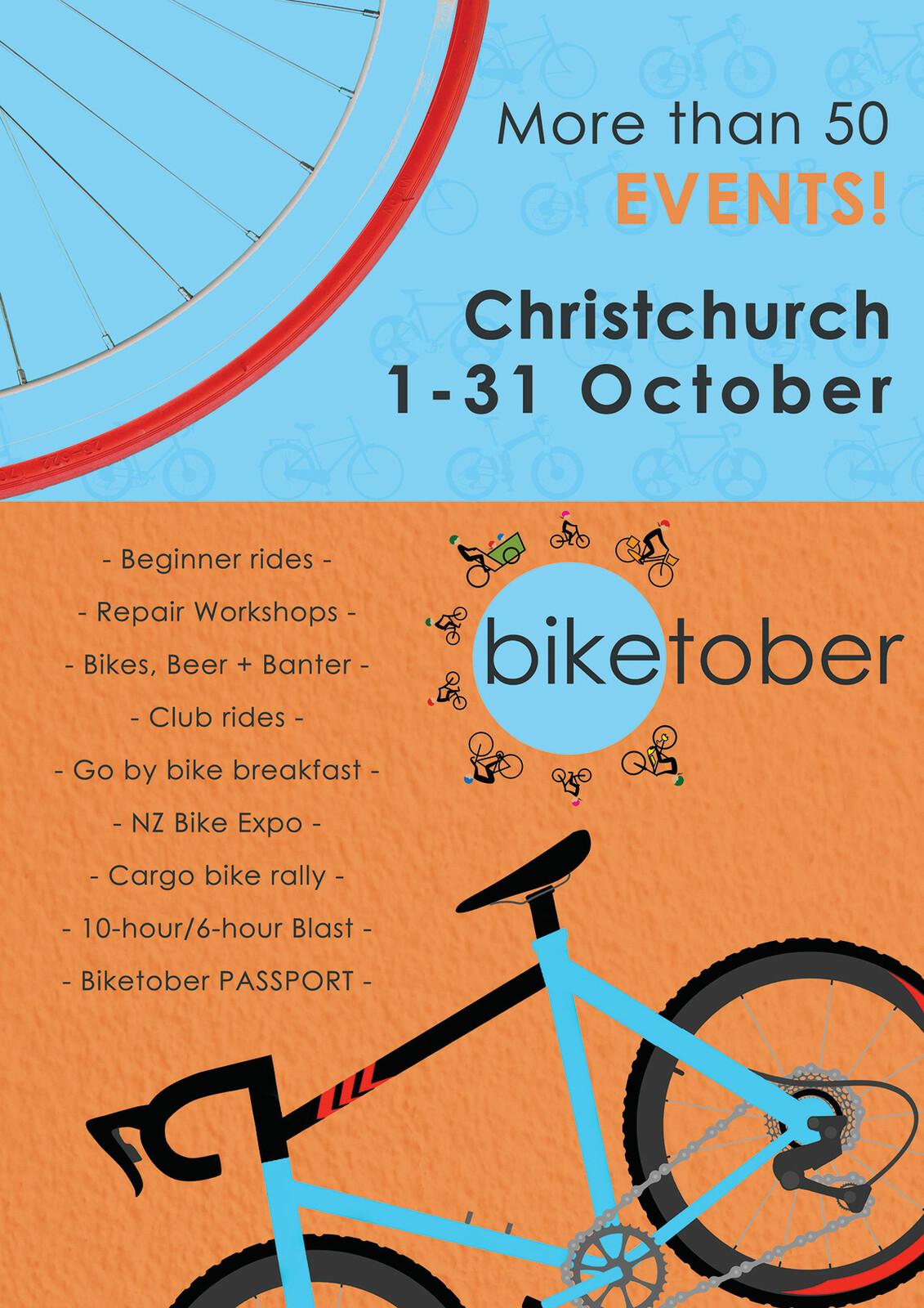 Biketober Christchurch Poster