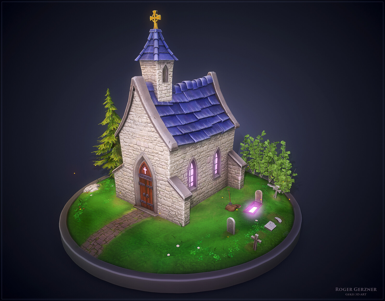 Stylized Celtic Chapel