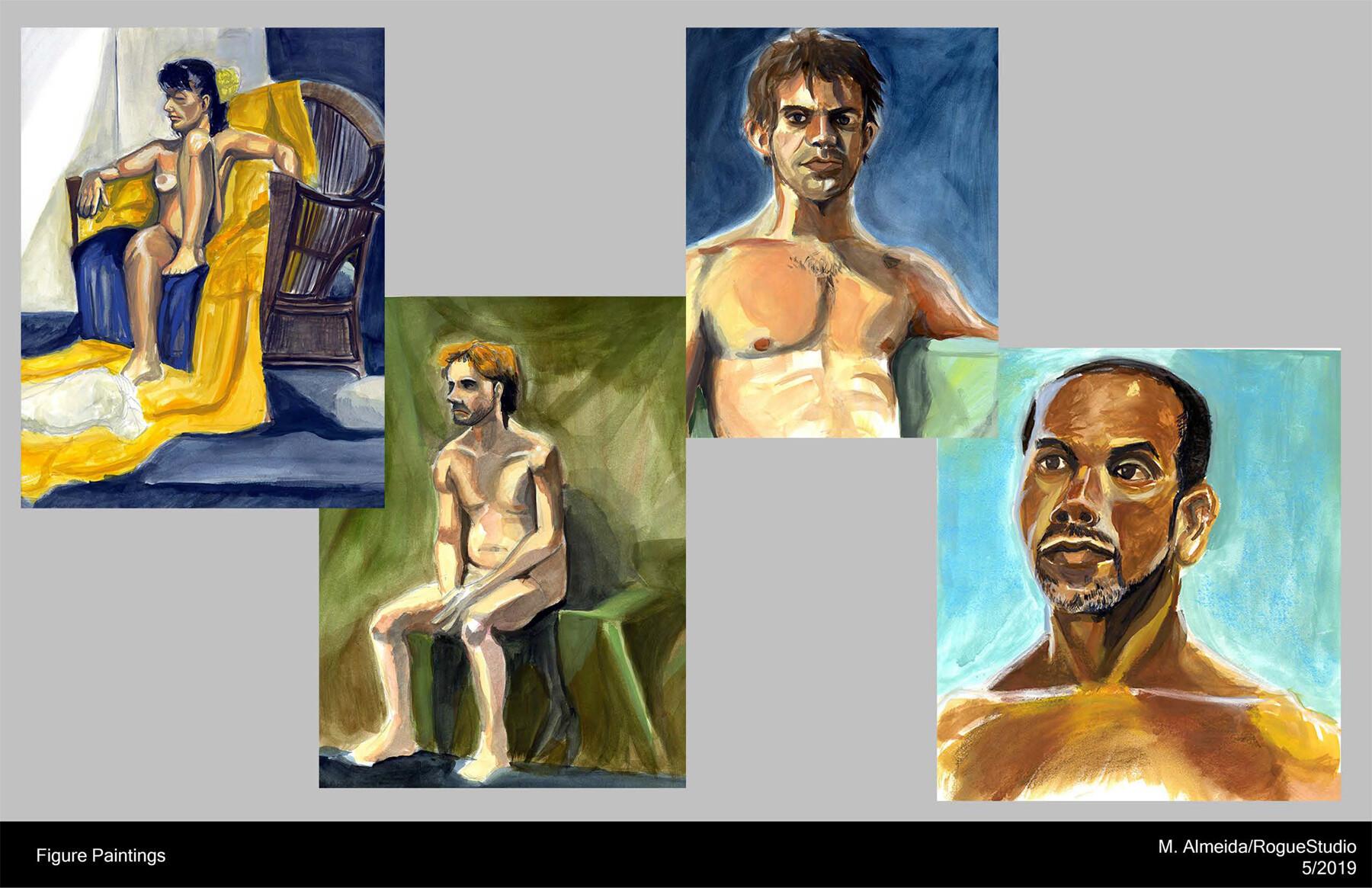 Figure Paintings Medium: Gouache