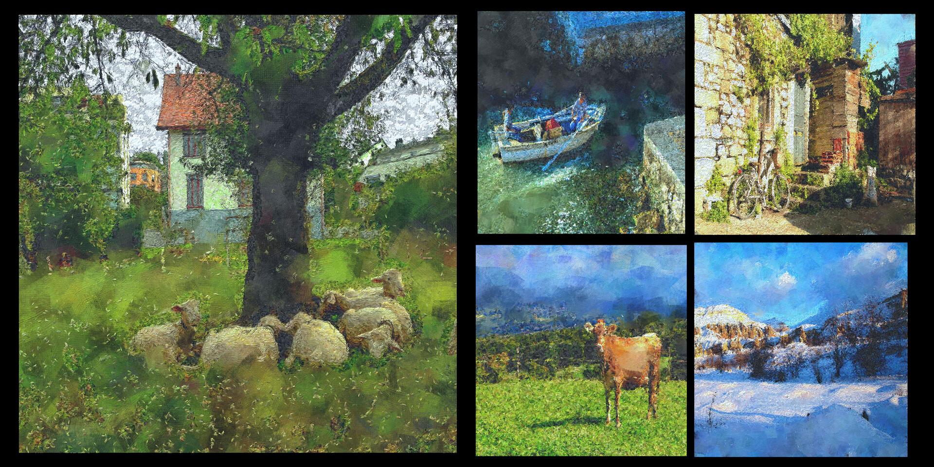 experiments with my photos from Switzerland, Italy, Cappadocia Turkey