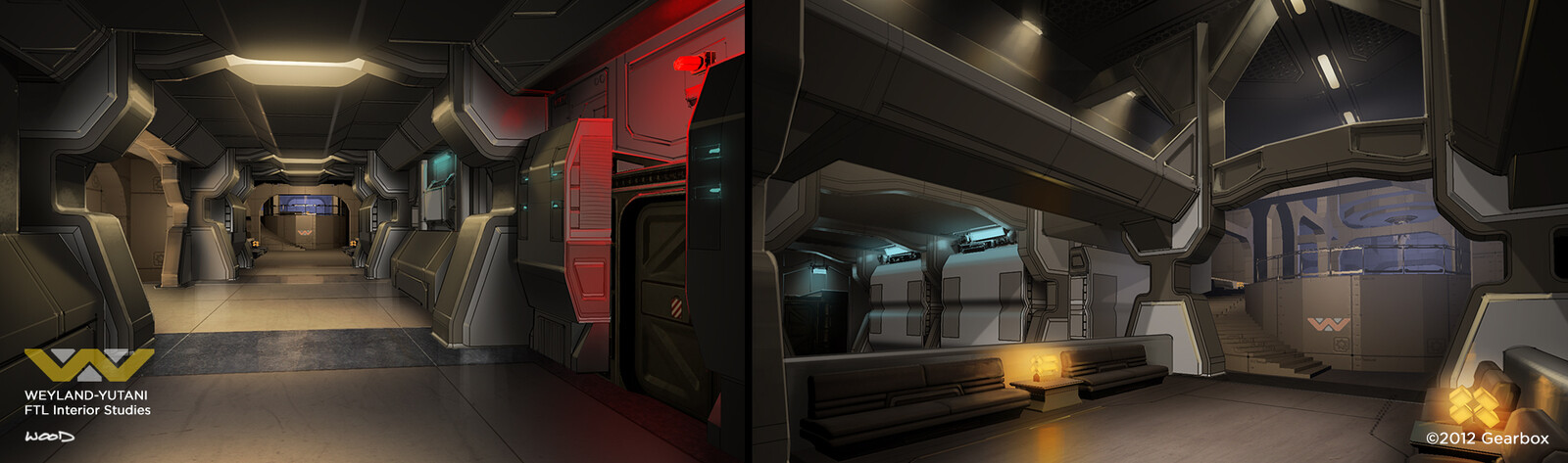 Paint-overs of FTL flagship interior