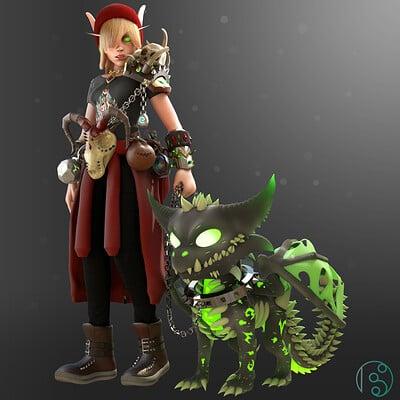 Blood Elf Warlock (Warcraft Fan Art)
