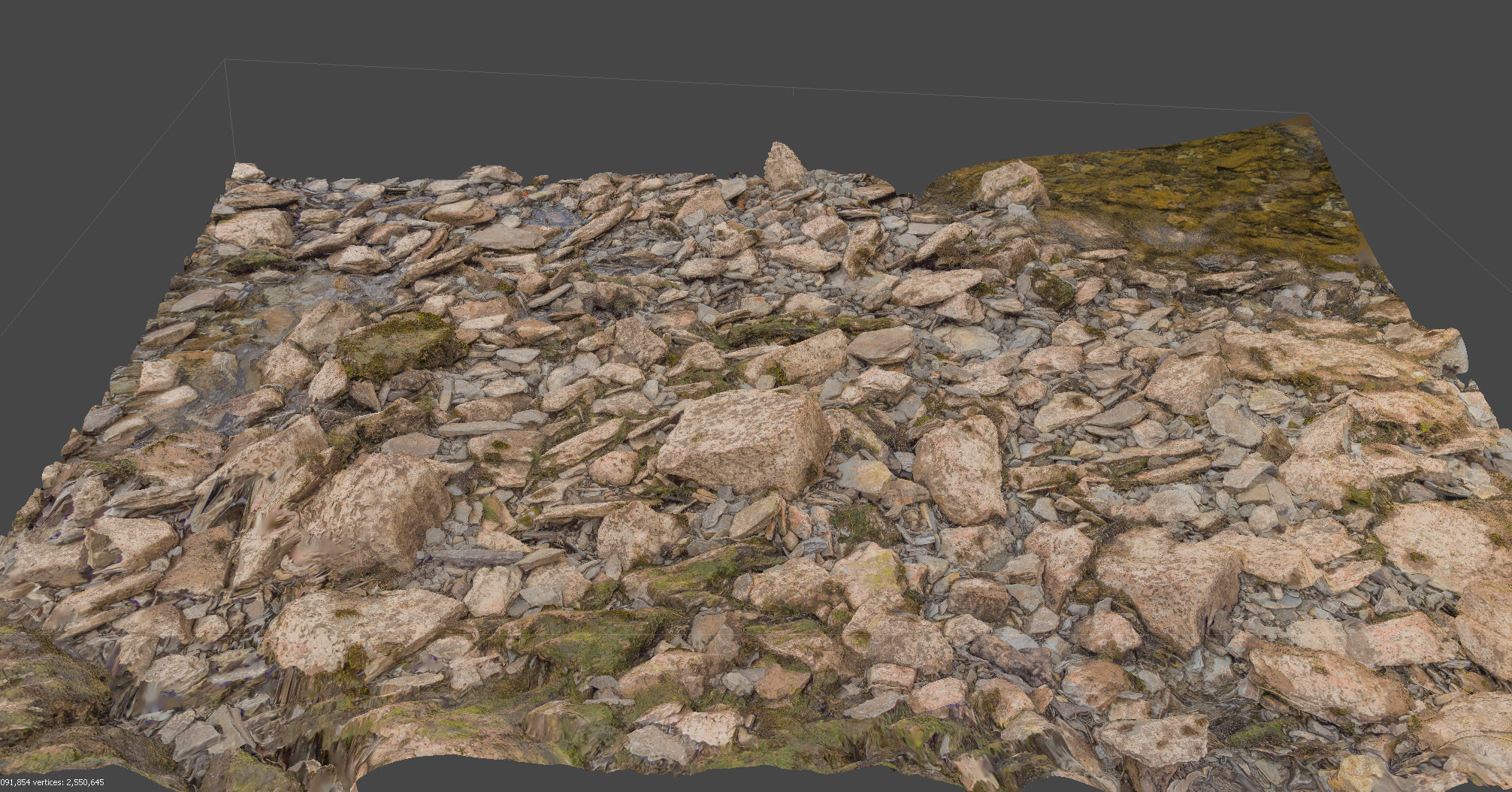 Pebble material photogrammetry scan.