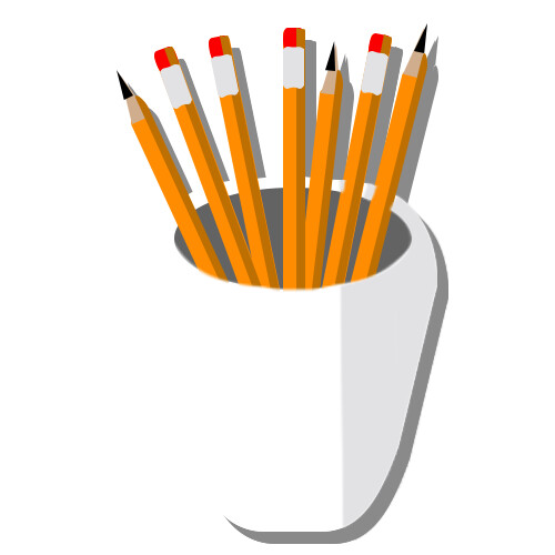 A static version of the pencil holder icon