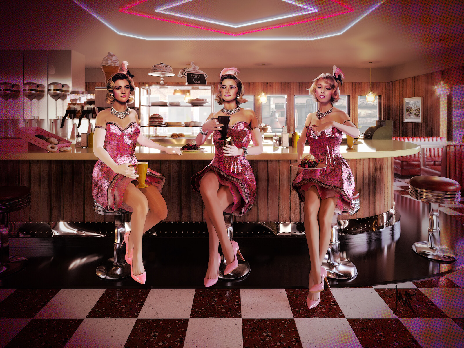 The Pink Ladies at the Double R