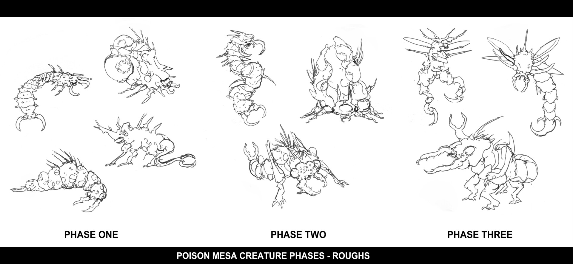 Christian herman pm creature phases roughs compiled