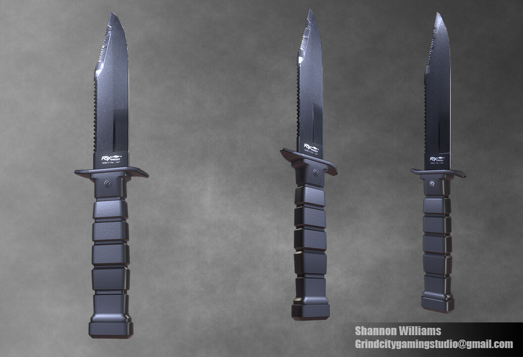 Fox Steel Military Knife In this knife model, I really wanted to capture the jaggedness. I struggled most with the faces on the end of the blade.