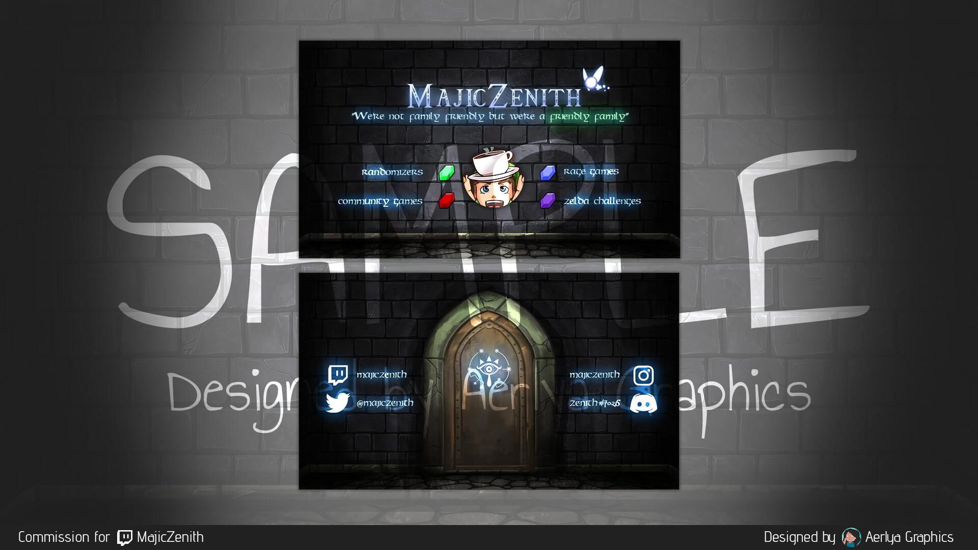 Aerlya graphics sample business card majiczenith