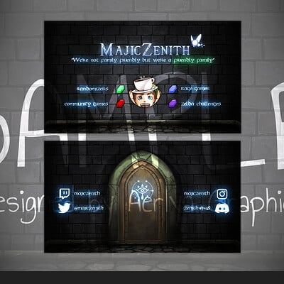 Aerlya graphics sample business card majiczenith