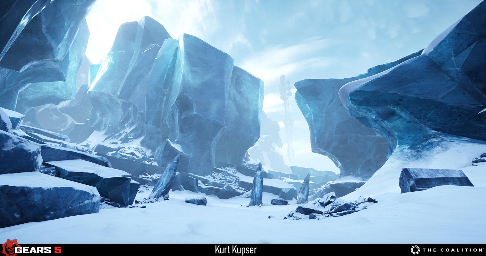 Ice Overworld Level Art - https://www.artstation.com/michaelmarraffa https://www.artstation.com/alfiefeliciano https://www.artstation.com/kteper