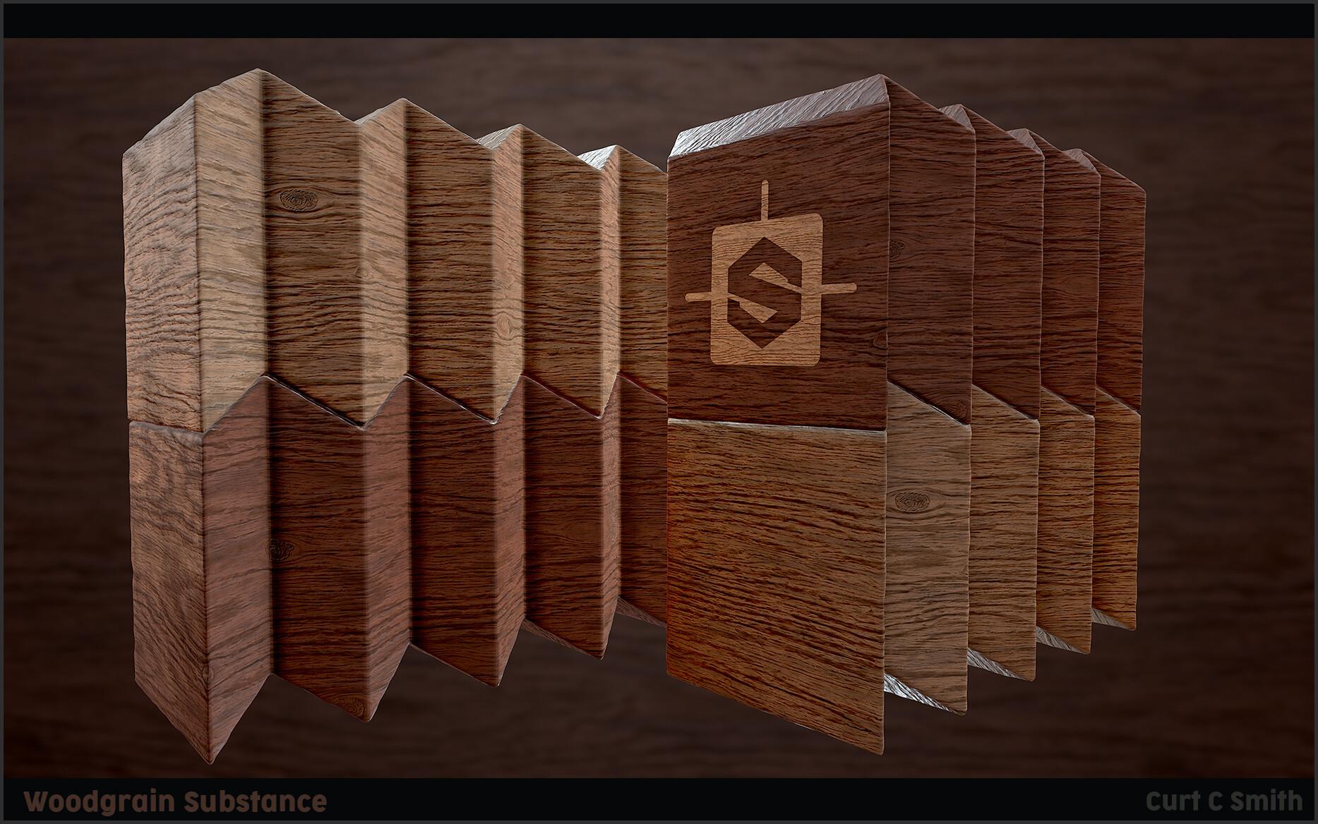 ArtStation - Wood Grain Substance, Curt C  Smith