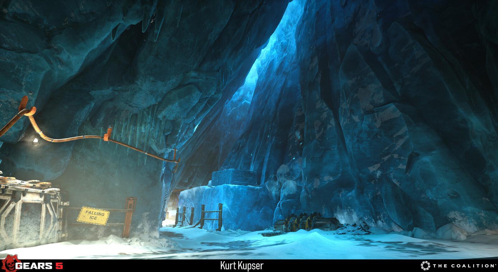 Examples of the ice used in Escape, level art by Boyd McKenzie https://www.artstation.com/dakkon