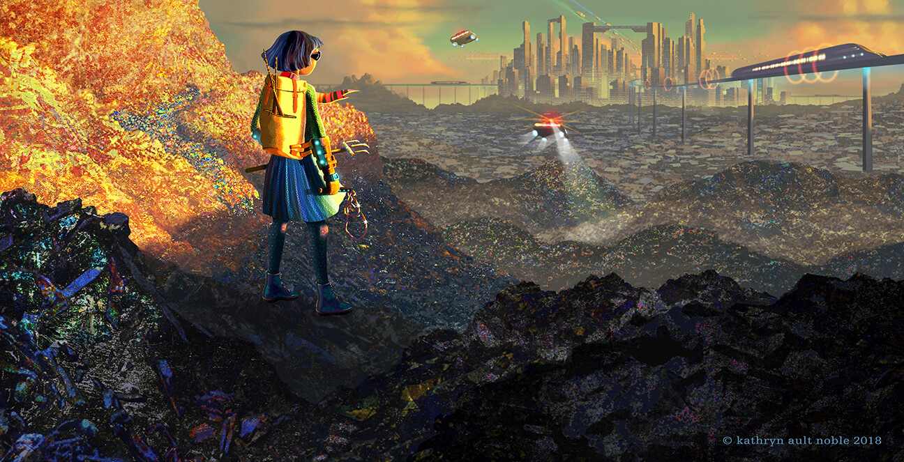Dystopian Plastic Wastelands